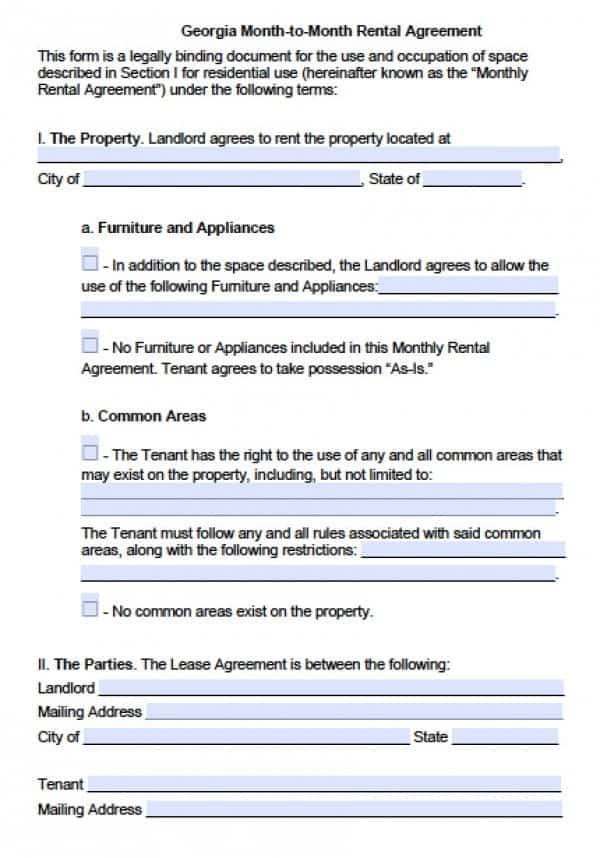 Month to Month Lease | PDF | Word