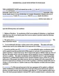 Lease w/Option to Purchase | PDF | Word