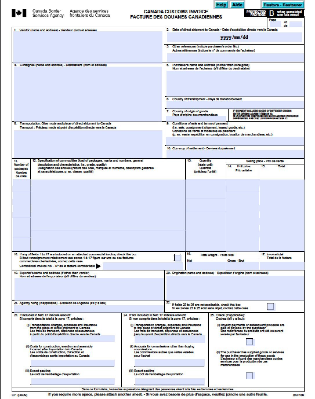 Commercial International Invoice Templates Pdf Word Excel