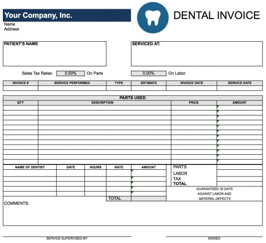 dental-invoice-template-excel
