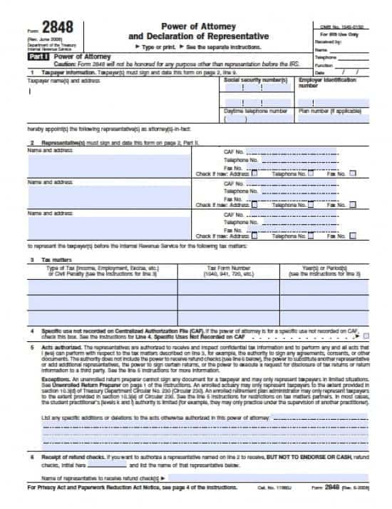 Delaware Tax Power of Attorney Form