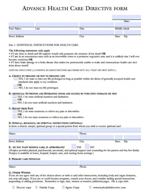 Hawaii Medical Power of Attorney Form